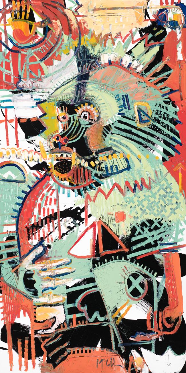 Baboon 3 mcclendon fine art asheville painter modern