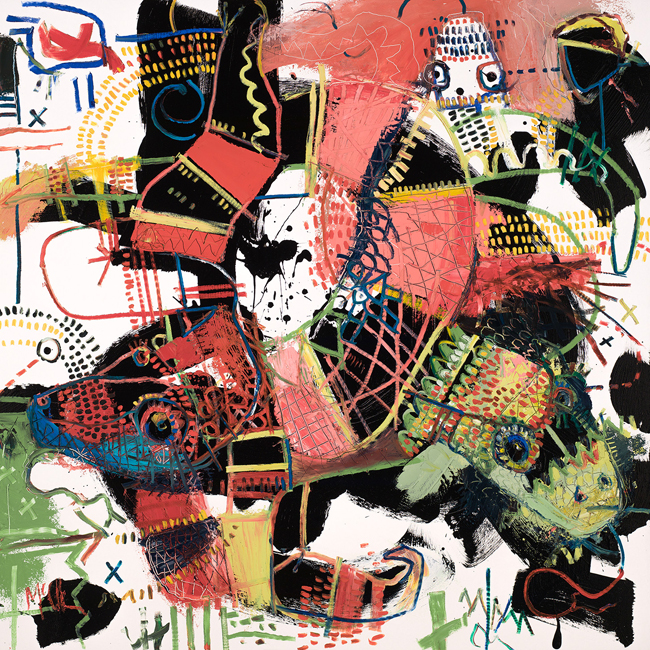 Coral Snakes McClendon Fine Art Modern Fine Art Asheville Painting