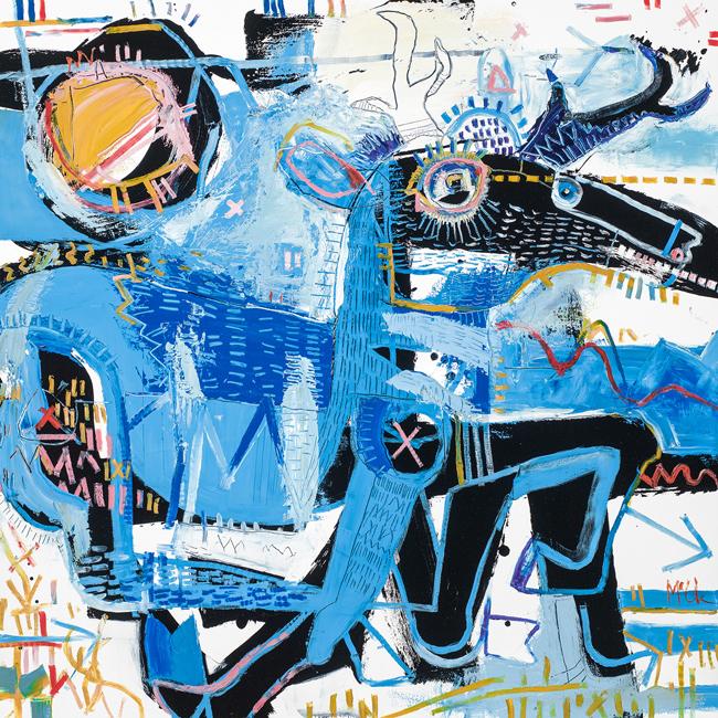 Pronghorn Antelope McClendon Fine Art Modern Fine Art Asheville Painting