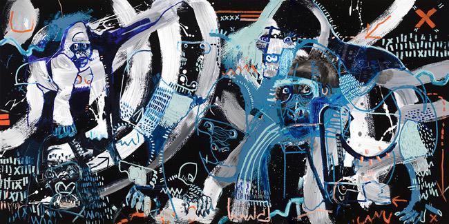 Gorillas McClendon Fine Art Modern Fine Art Asheville Painting