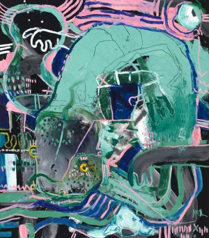 Hellbender McClendon Fine Art Modern Fine Art Asheville Painting