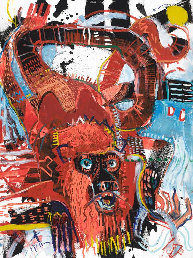 Howler Monkey II McClendon Fine Art Modern Fine Art Asheville Painting