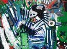 Zebra III McClendon Fine Art Modern Fine Art Asheville Painting