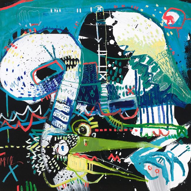 Stork 3 McClendon Fine Art Modern Fine Art Asheville Painting