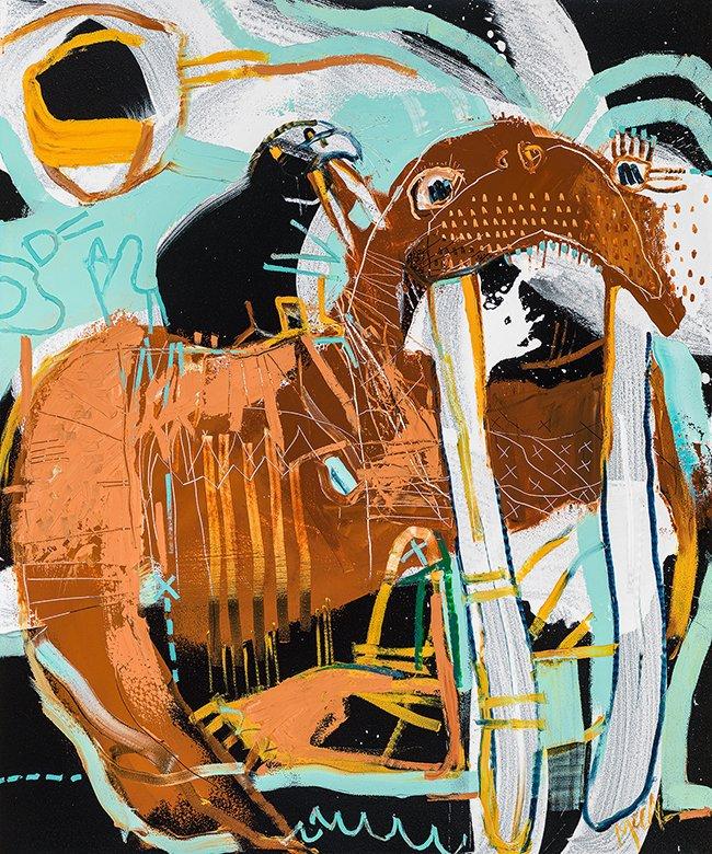 Walrus III McClendon Fine Art Modern Fine Art Asheville Painting