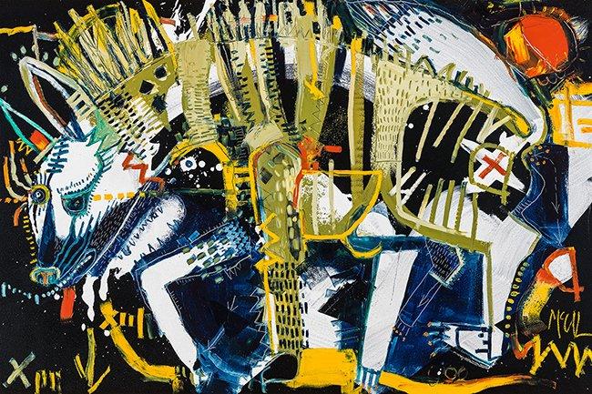Aardwolf McClendon Fine Art Modern Fine Art Asheville Painting