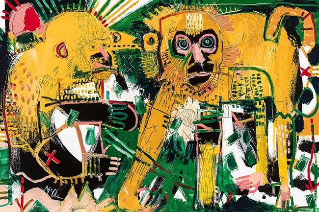 Macaques McClendon Fine Art Modern Fine Art Asheville Painting