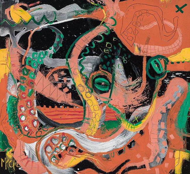 Octopus V McClendon Fine Art Modern Fine Art Asheville Painting