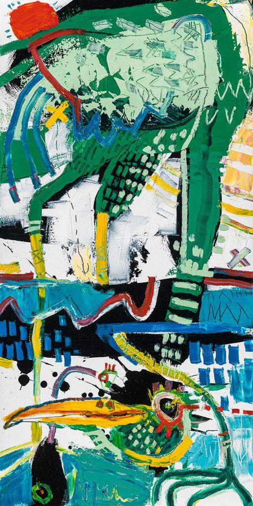 Water Bird McClendon Fine Art Modern Fine Art Asheville Painting