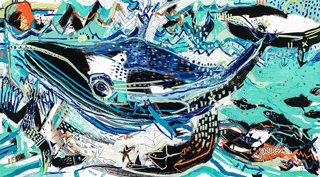 Fin Whale McClendon Fine Art Modern Fine Art Asheville modern abstract Painting