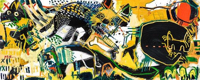 Canines 2 McClendon Fine Art Modern Fine Art Asheville Painting