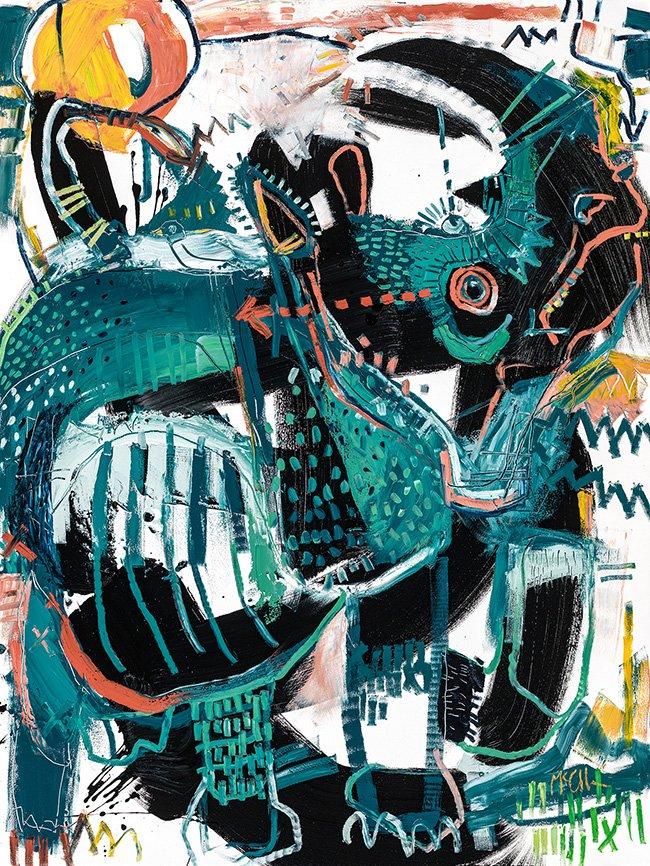 Rhino 3 McClendon Fine Art Modern Fine Art Asheville Painting