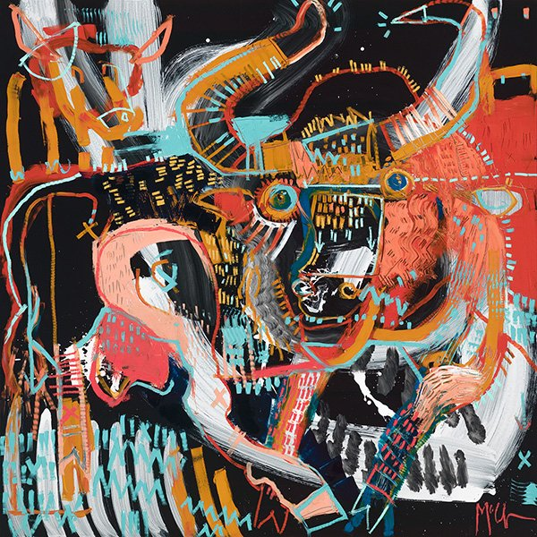 daniel mcclendon asheville fine art gallery abstract animal aurochs bull