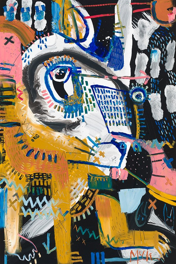 Hare daniel mcclendon asheville fine art gallery abstract animal