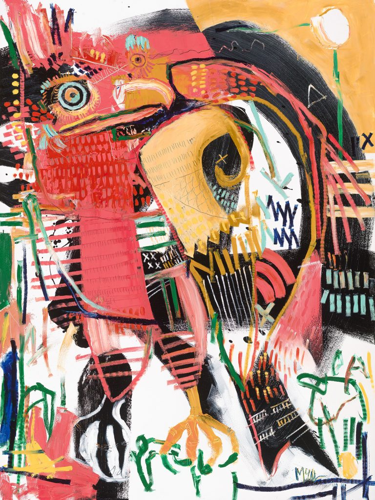 Cukoo falcon McClendon Fine Art Modern Fine Art Asheville Painting