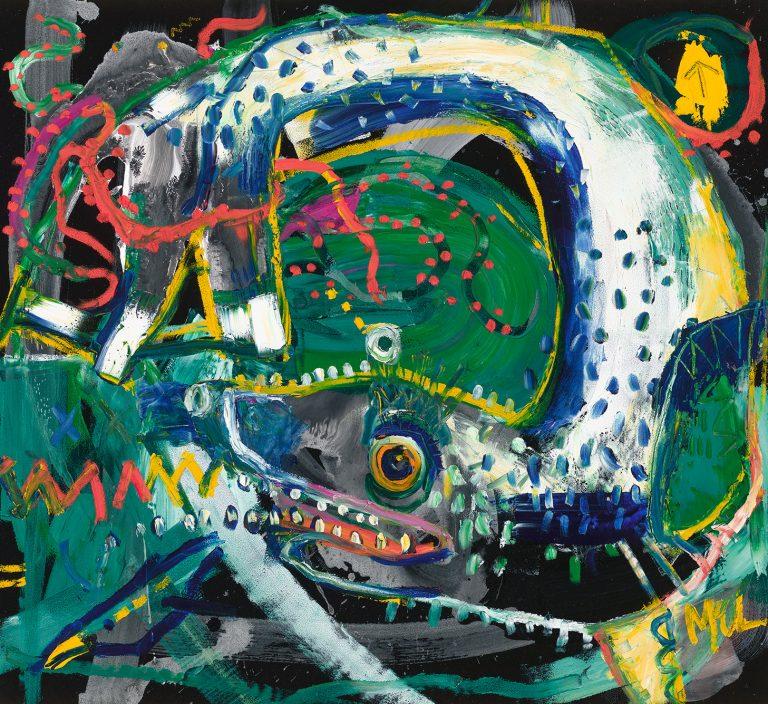 leopard seal McClendon Fine Art Modern Fine Art Asheville Painting