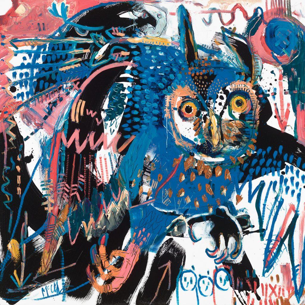 Long eared owl McClendon Fine Art Modern Fine Art Asheville Painting