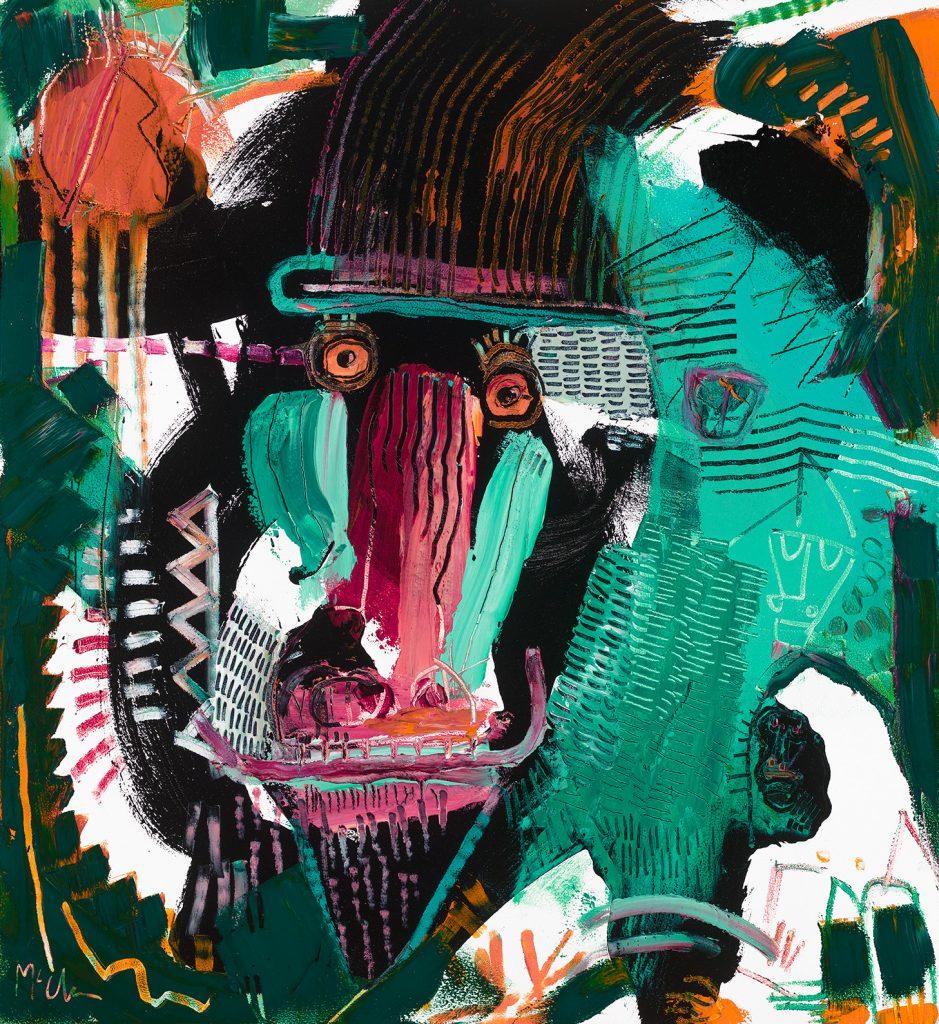 Mandrill 2 McClendon Fine Art Modern Fine Art Asheville Painting