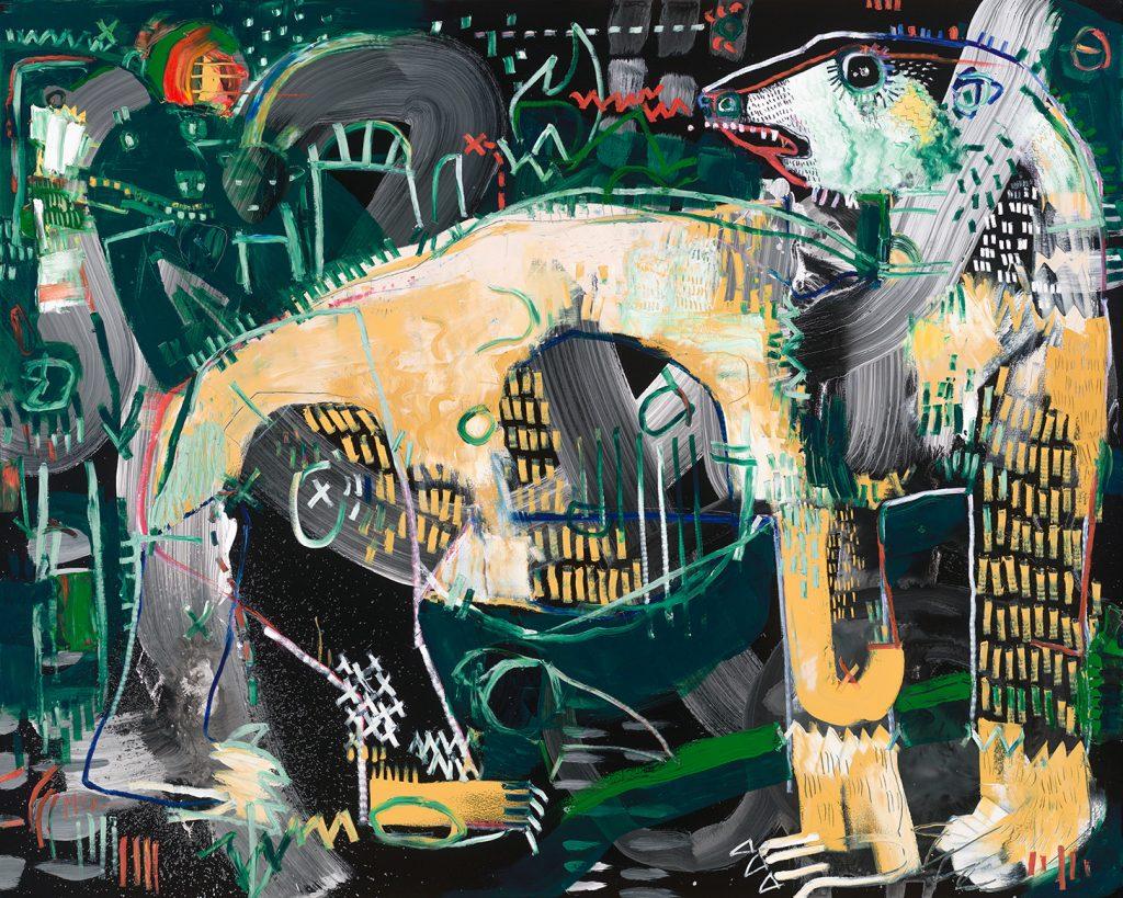 Polar Bear 2 McClendon Fine Art Modern Fine Art Asheville Painting