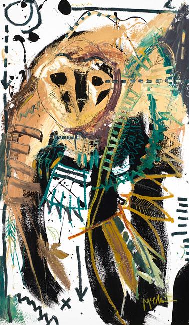 Barn Owl Painting by Daniel McClendon Asheville