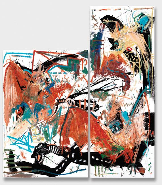 Bats (diptych) Painting by Daniel McClendon