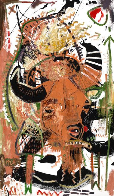 Bison V Painting by Daniel McClendon Asheville
