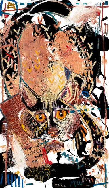 Bobcat Painting by Daniel McClendon Asheville
