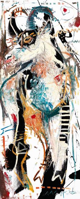 Chamois Painting by Artist Daniel McClendon