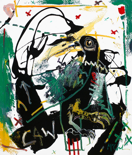Crow Painting by Daniel McClendon Art Asheville