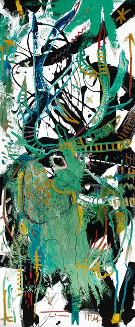 Elk Painting by Daniel McClendon Asheville