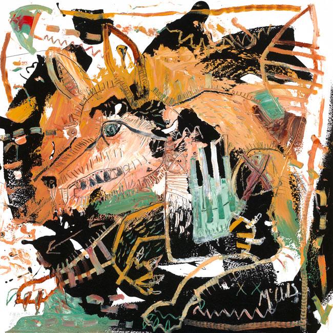 Fox II Painting by Daniel McClendon