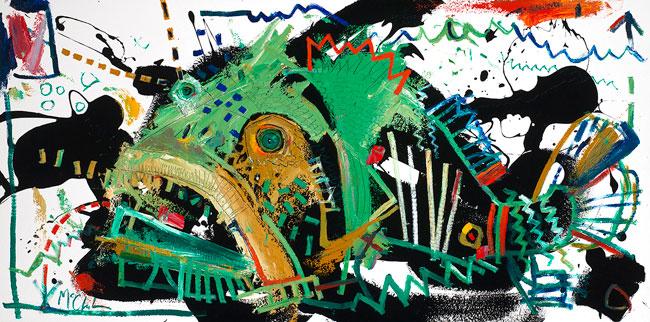 Grouper Painting by Daniel McClendon Asheville