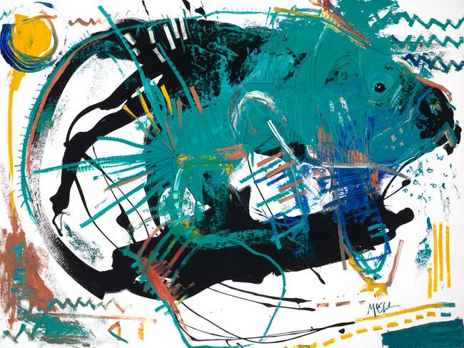 Manatee Painting by artist Daniel McClendon