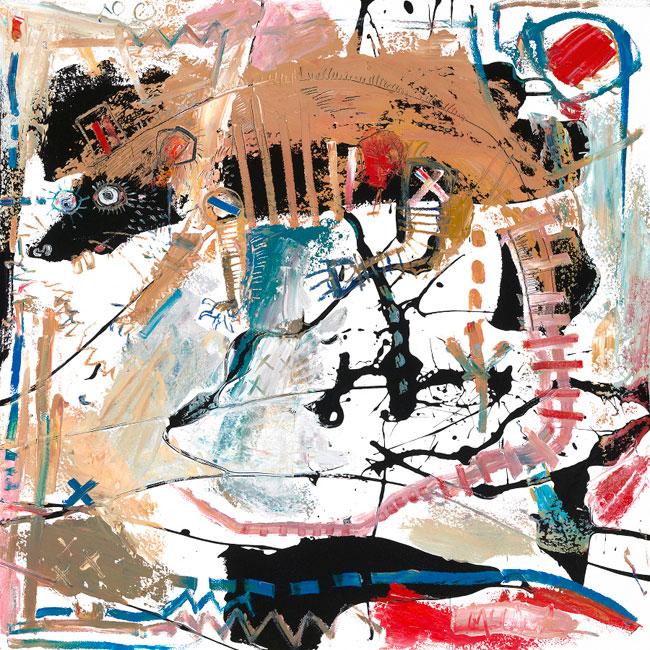 Rat Painting by Daniel McClendon Asheville
