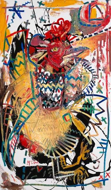 Rooster II Painting by Daniel McClendon Asheville