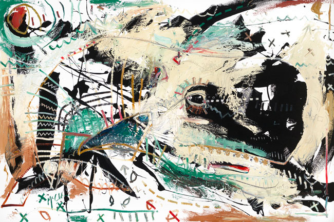 White Whale Painting by Daniel McClendon Asheville