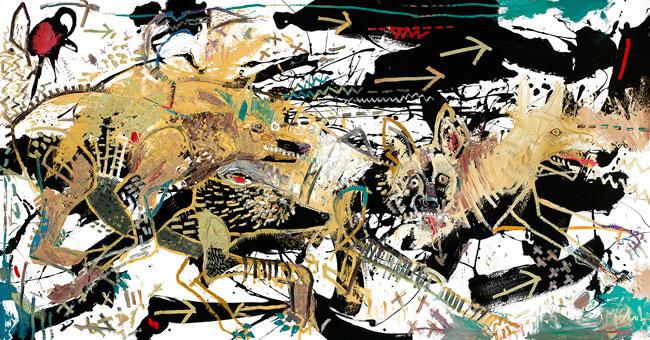 Wild Dogs Art by Daniel McClendon Asheville