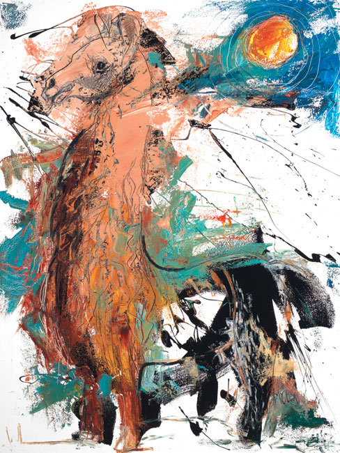 Alpaca Painting by artist Daniel McClendon