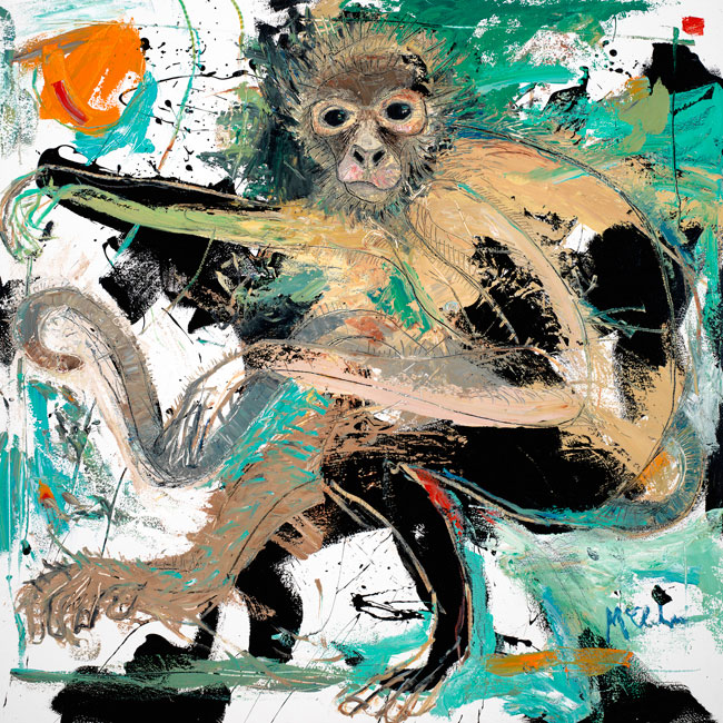 Monkey painting by artist Daniel McClendon