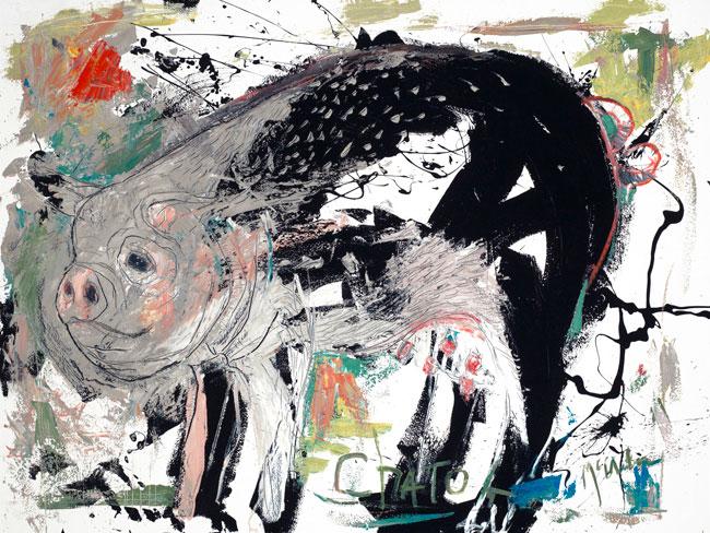 Pig by Asheville artist Daniel McClendon