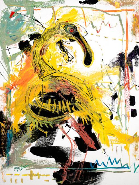 Spoonbill Painting by Artist Daniel McClendon